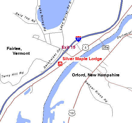 Fairlee, VT / Orford, NH Map